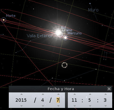 Heaven during the conjunction of Uranus in April 2015