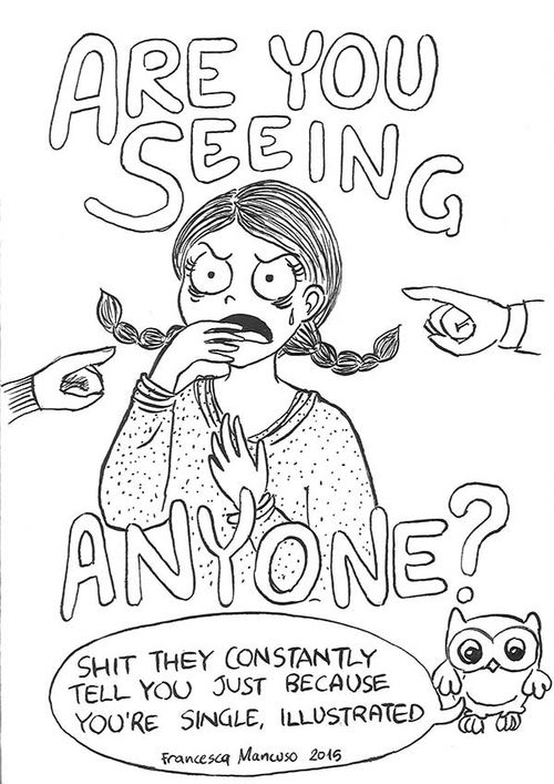AY portada del cómic Are you seein anyone? de Francesca Mancuso